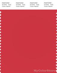 PANTONE SMART 17-1654X Color Swatch Card, Poinsettia