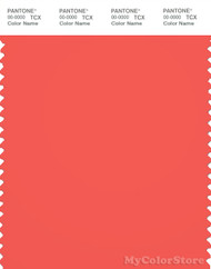 PANTONE SMART 17-1656X Color Swatch Card, Hot Coral