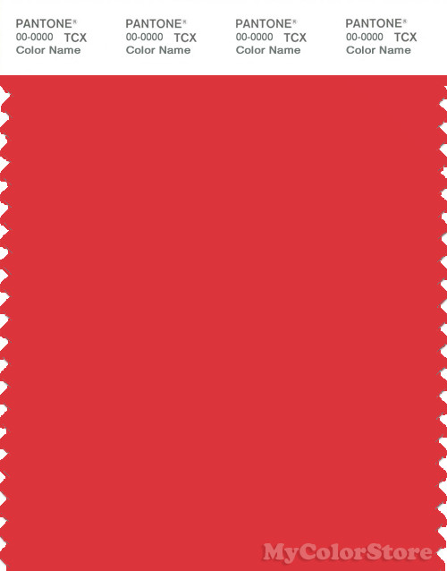 PANTONE SMART 17-1664X Color Swatch Card, Poppy Red
