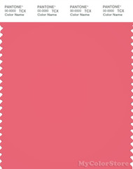 PANTONE SMART 17-1736X Color Swatch Card, Sunkist Coral