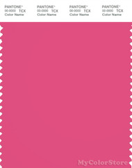 PANTONE SMART 17-2033X Color Swatch Card, Fandango Pink