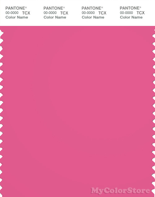 PANTONE SMART 17-2230X Color Swatch Card, Carmine Rose
