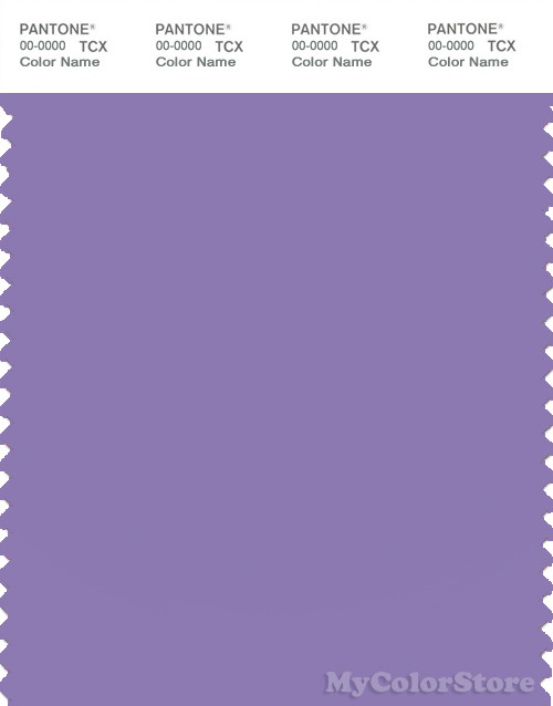 PANTONE SMART 17-3730X Color Swatch Card, Paisley Purple