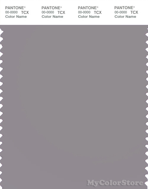 PANTONE SMART 17-3802X Color Swatch Card, Gull