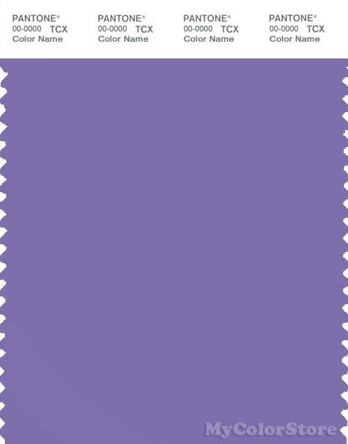 PANTONE SMART 17-3834X Color Swatch Card, Dahlia Purple