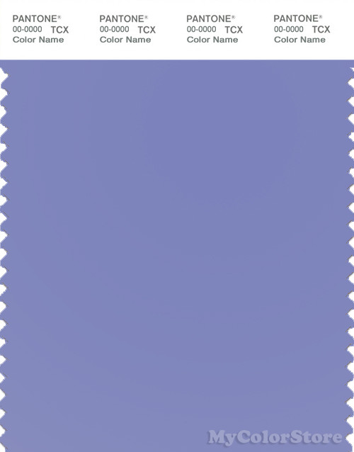 PANTONE SMART 17-3932X Color Swatch Card, Deep Periwinkle