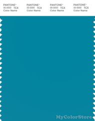 PANTONE SMART 17-4730X Color Swatch Card, Caneel Bay