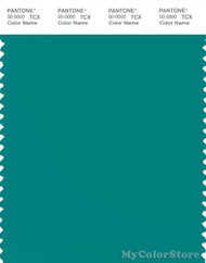 PANTONE SMART 17-5024X Color Swatch Card, Teal Blue