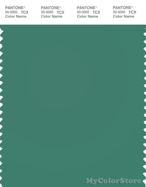 PANTONE SMART 17-5722X Color Swatch Card, Bottle Green
