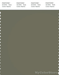 PANTONE SMART 18-0312X Color Swatch Card, Deep Lichen Green