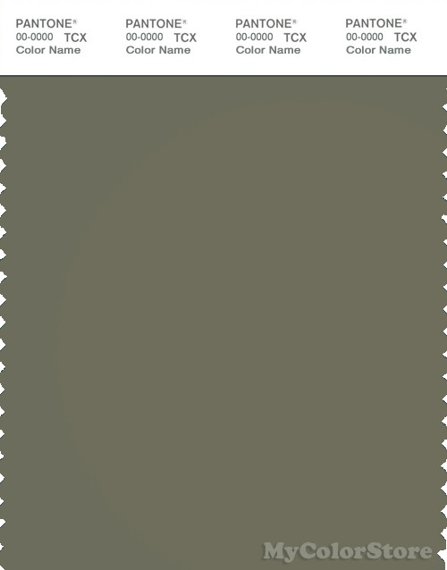 PANTONE SMART 18-0312X Color Swatch Card, Deep Lichen Green