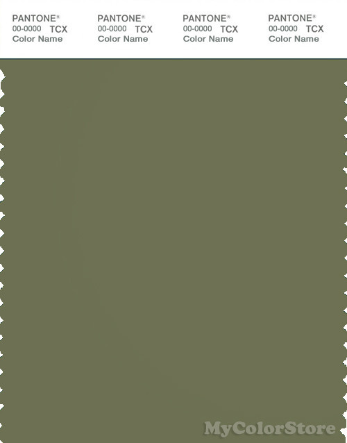 PANTONE SMART 18-0422X Color Swatch Card, Loden Green