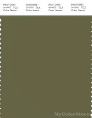 PANTONE SMART 18-0426X Color Swatch Card, Capulet Olive
