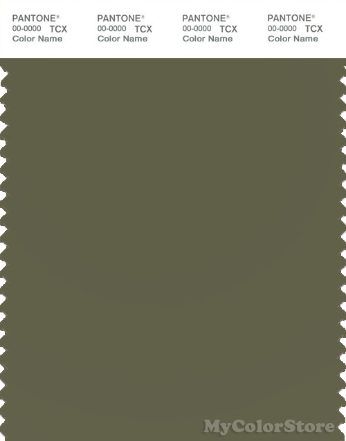PANTONE SMART 18-0523X Color Swatch Card, Winter Moss