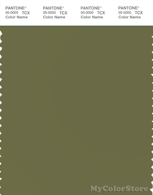 PANTONE SMART 18-0527X Color Swatch Card, Deep Olive