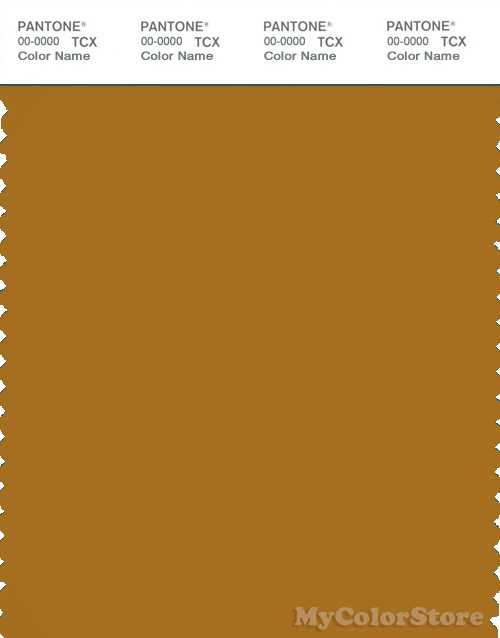 PANTONE SMART 18-0935X Color Swatch Card, Buckthorn Brown