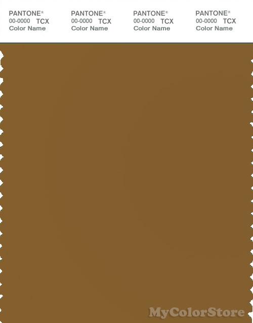 PANTONE SMART 18-0937X Color Swatch Card, Bronze Brown