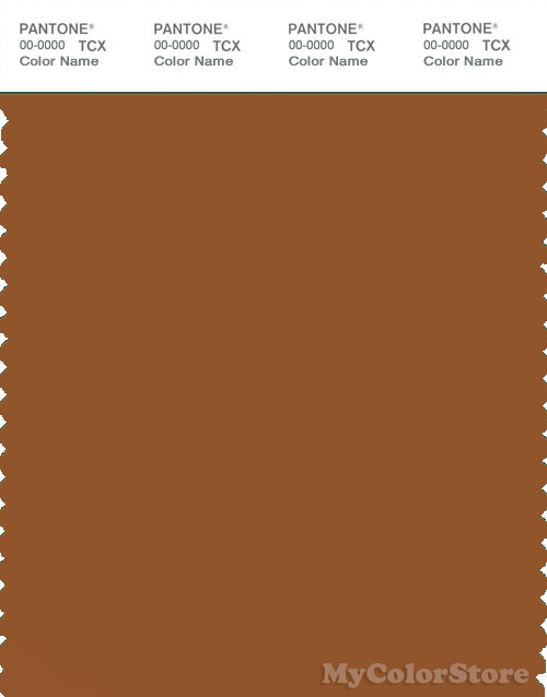 PANTONE SMART 18-1154X Color Swatch Card, Glazed Ginger