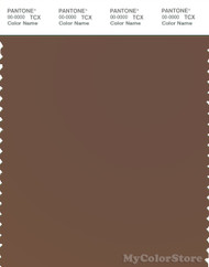 PANTONE SMART 18-1222X Color Swatch Card, Cocoa Brown