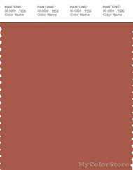 PANTONE SMART 18-1346X Color Swatch Card, Orange Brown