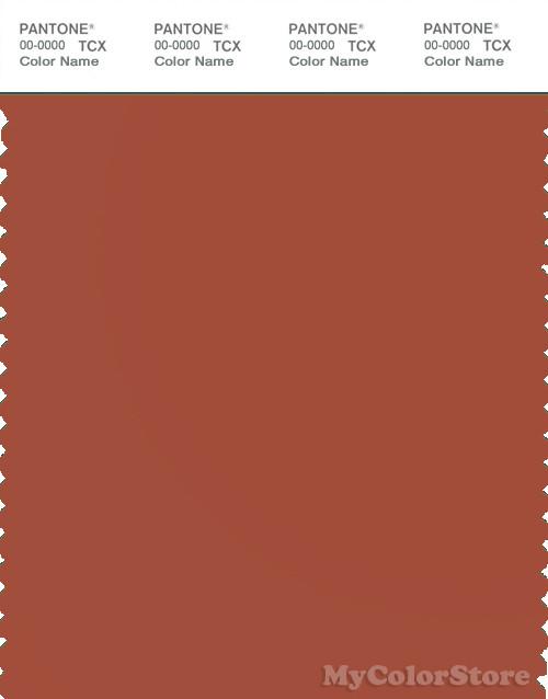 PANTONE SMART 18-1350X Color Swatch Card, Burnt Brick