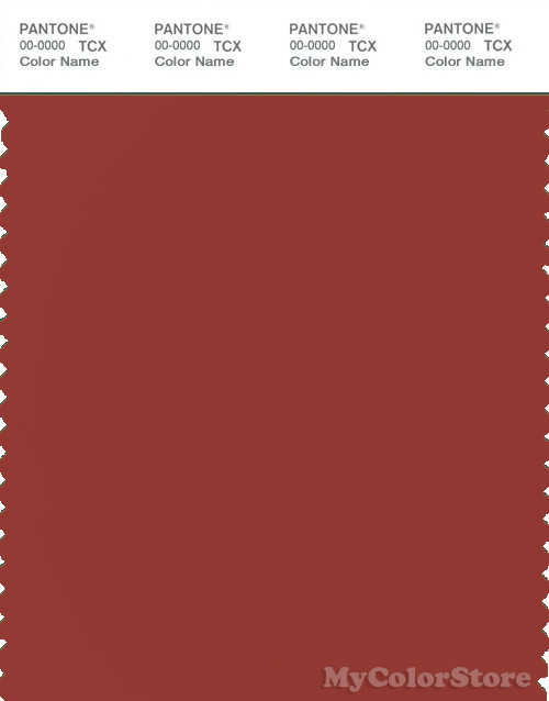 PANTONE SMART 18-1442X Color Swatch Card, Red Ochre