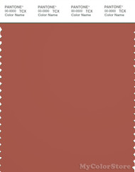 PANTONE SMART 18-1443X Color Swatch Card, Redwood