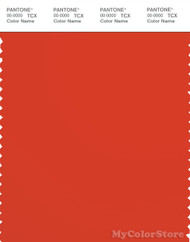 PANTONE SMART 18-1445X Color Swatch Card, Spicey Orange