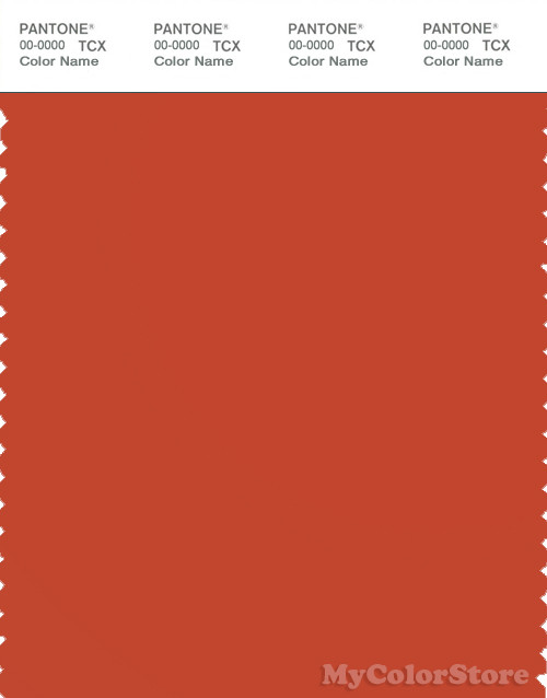 PANTONE SMART 18-1454X Color Swatch Card, Red Clay