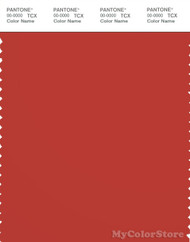 PANTONE SMART 18-1550X Color Swatch Card, Aurora Red