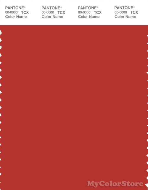 PANTONE SMART 18-1555X Color Swatch Card, Molten Lava