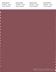 PANTONE SMART 18-1616X Color Swatch Card, Roan Rouge