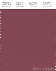 PANTONE SMART 18-1619X Color Swatch Card, Maroon