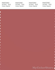 PANTONE SMART 18-1630X Color Swatch Card, Dusty Cedar