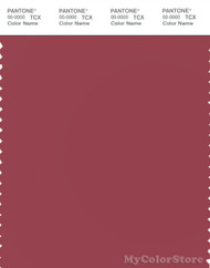 PANTONE SMART 18-1631X Color Swatch Card, Earth Red
