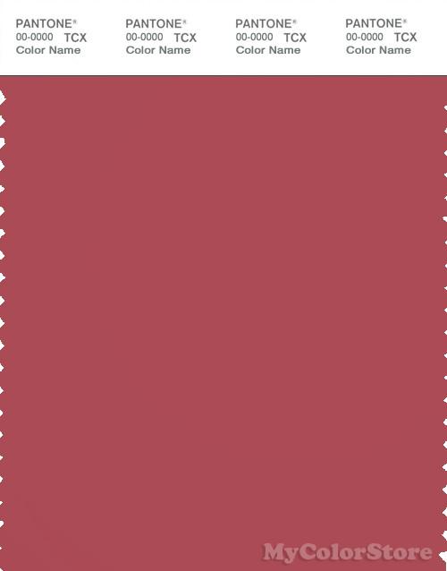 PANTONE SMART 18-1633X Color Swatch Card, Garnet Rose