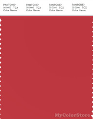 PANTONE SMART 18-1652X Color Swatch Card, Rococco Red