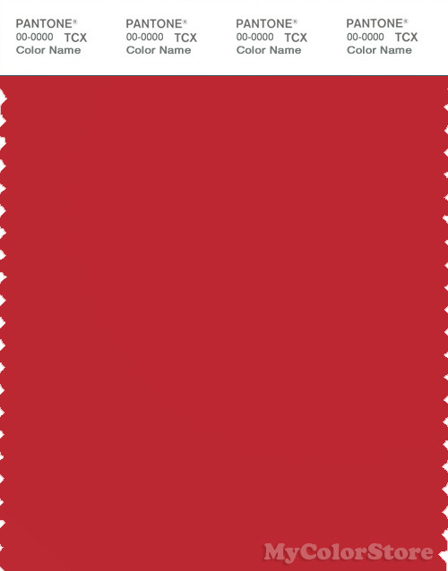 PANTONE SMART 18-1655X Color Swatch Card, Mars Red