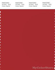 PANTONE SMART 18-1658X Color Swatch Card, Pompeian Red