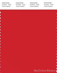 PANTONE SMART 18-1662X Color Swatch Card, Flame Scarlet