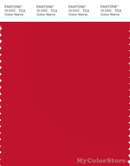 PANTONE SMART 18-1663X Color Swatch Card, Chinese Red