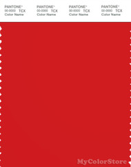 PANTONE SMART 18-1664X Color Swatch Card, Fiery Red