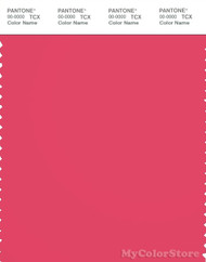PANTONE SMART 18-1755X Color Swatch Card, Rouge Red