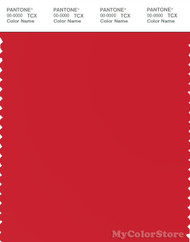 PANTONE SMART 18-1763X Color Swatch Card, High Risk Red