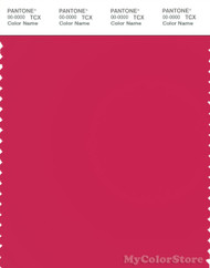 PANTONE SMART 18-1852X Color Swatch Card, Rose Red