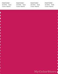 PANTONE SMART 18-1945X Color Swatch Card, Bright Rose