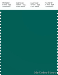 PANTONE SMART 18-5322X Color Swatch Card, Alpine Green