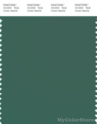 PANTONE SMART 18-5718X Color Swatch Card, Smoke Pine