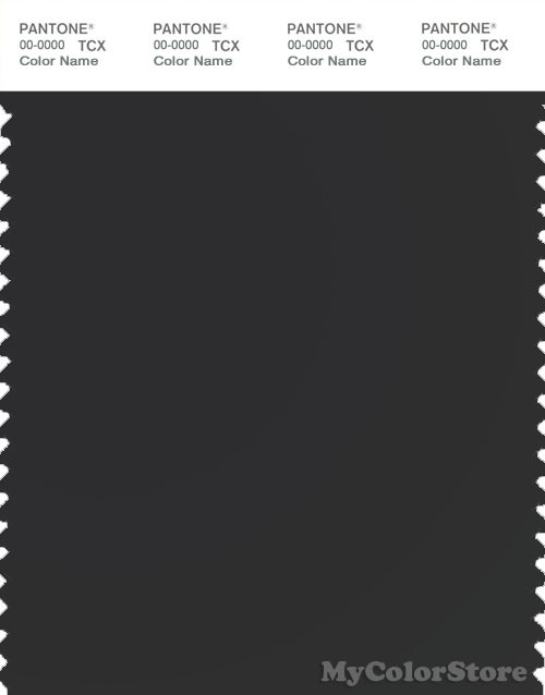 PANTONE SMART 19-0303X Color Swatch Card, Jet Black