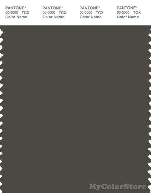 PANTONE SMART 19-0405X Color Swatch Card, Green Black